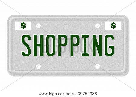 Shopping Car  License Plate