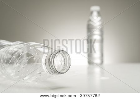 Neck Of An Empty Plastic Water Bottle