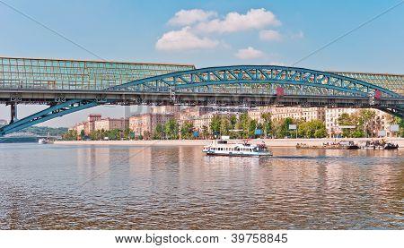Modern Bridge Over The River