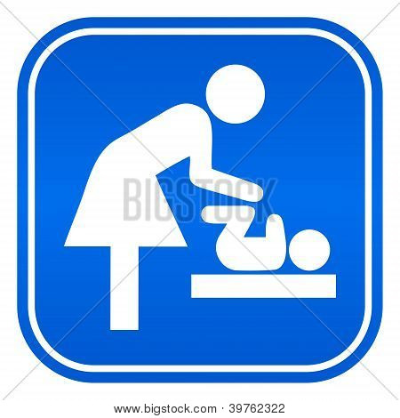Mother room vector symbol