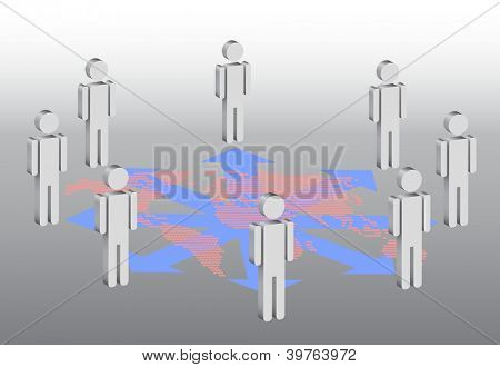 symbolic illustration for social network