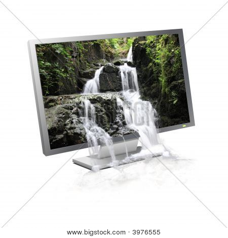 Waterfall Flowing Screen