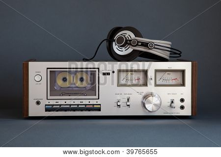 Stereo Cassette Tape Deck analógico Vintage