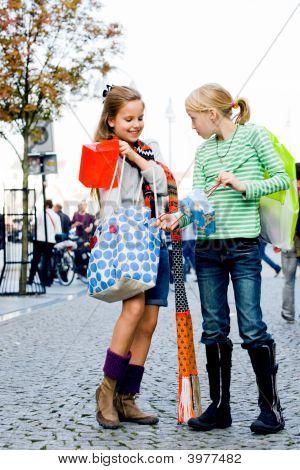 Happy Shopping Children