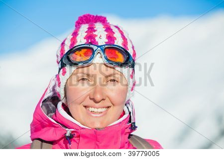 Young woman in a ski wear