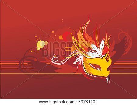 Grunge Background com máscara do Carnaval de Veneza