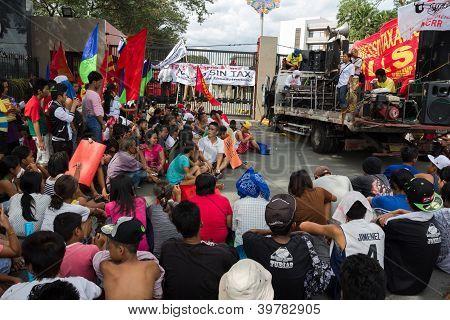 Anti-Sin tax bill rally
