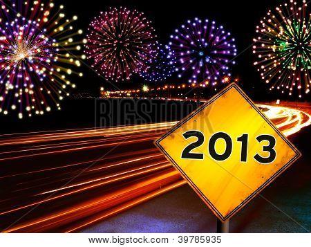 Happy New Year Fireworks City