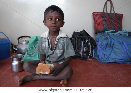 Boy Eating
