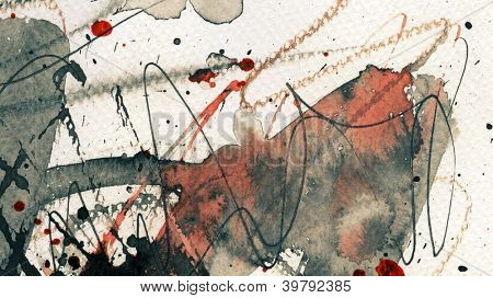 Abstract grunge background, ink texture.