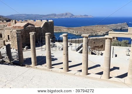 Propylaea Of Lindos Acropolis