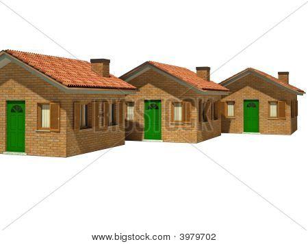 Isolated Houses 3D