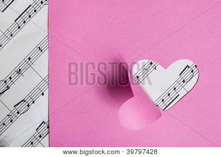 Paper Valentine card