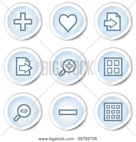 Image viewer web icons set 1, light blue stickers