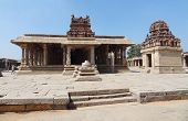 stock photo of vijayanagara  - Krishna Temple at Hemakuta Hill a part of the Sacred Center of Vijayanagara around Hampi a city located in Karnataka South West India - JPG