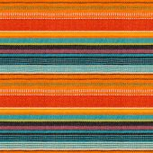 stock photo of mexican  - Textile Detail Seamless Background with Mexican Color - JPG
