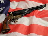 Pistol with american flag