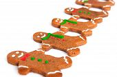 Gingerbread Men In A Row