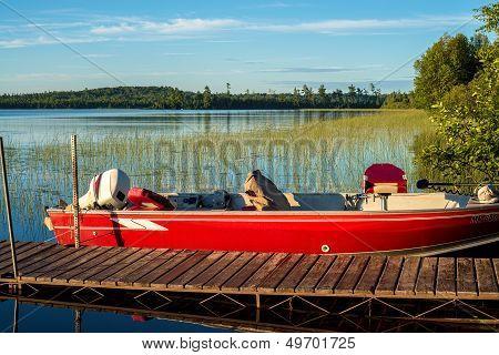 Fishing Boat, Four Mile Lake
