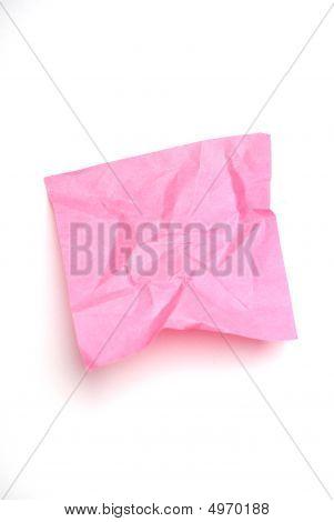 Pink Wrinkled Note
