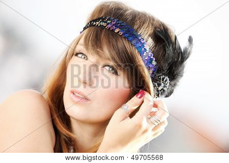 Flapper Girl .vintage Woman In 1920S Style
