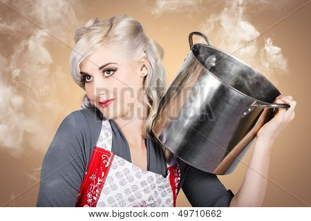 Retro Women And Homemakers. Pin Up Cooking