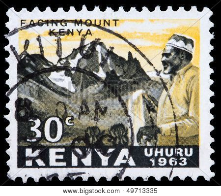 Post Stamp From Kenya