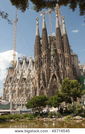 Sagrada Familia (holy Family) Church In Barcelona
