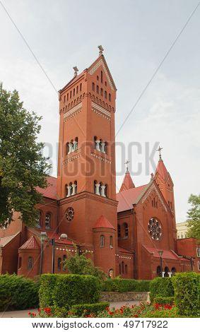 Red Chapel In Minsk, Belarus