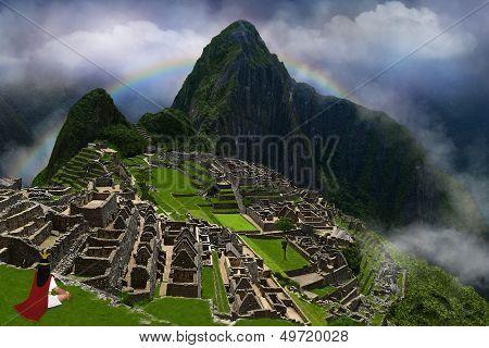 Inca Emperor In Machu Picchu
