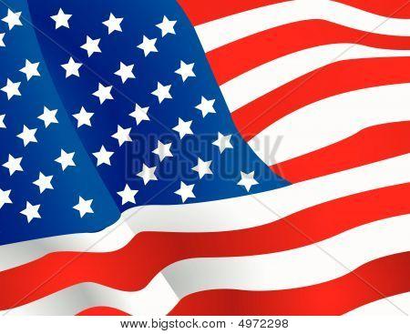 Vector Illustration United States Flag Wallpaper