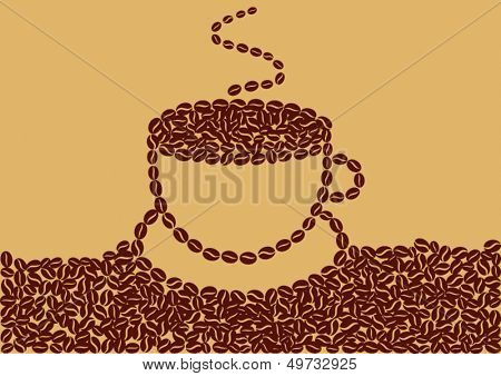 Abstract cup of coffee