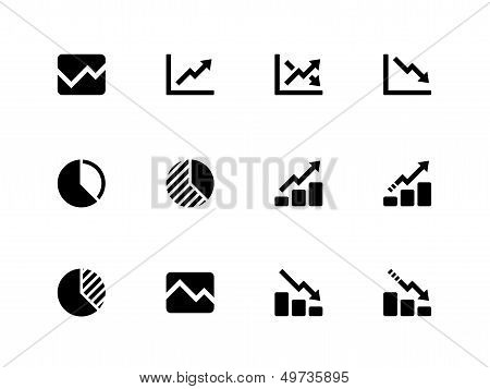 Line chart and Diagram icons on white background.