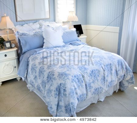 Beautiful Light Blue Bedroom
