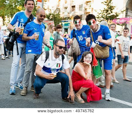Football Fans Ready To Go To Match