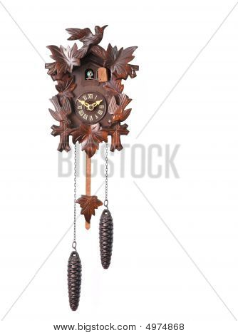 Cuckoo Clock Isolated On A White Background