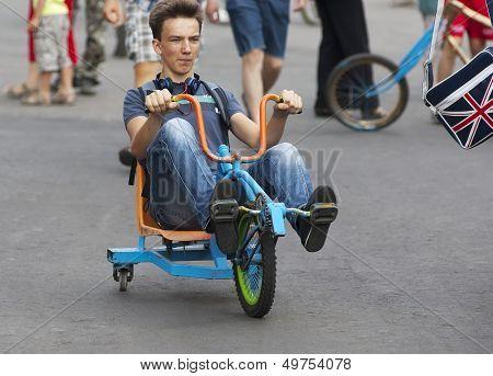 Man On Rasta Bike