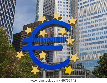 European Central Bank In Frankfurt