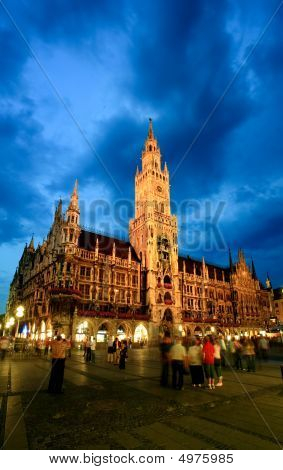 The Night Scene Of Munich Town Hall
