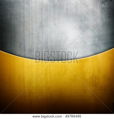 silver and gold metal background
