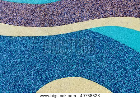 Texture Of Color Rubber Floor On Playground. ( Ethylene Propylene Diene Monomeror Epdm)