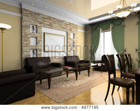 Modern Interior In Classical Style