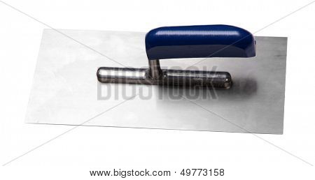 Metal building spatula isolated on a white