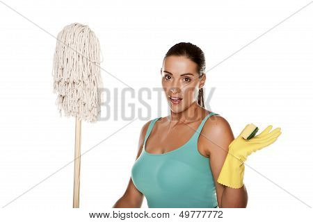 Sexy cleaner.