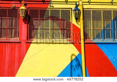 Bright Colors In La Boca