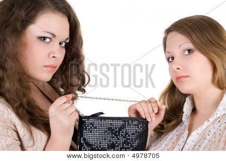 Quarrel Of Two Beautiful Girls Because Of A Handbag