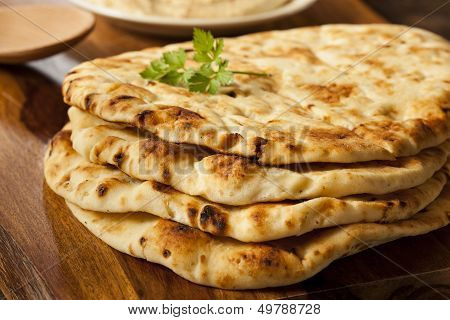 Homemade Indian Naan Flatbread