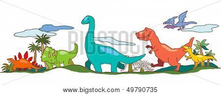 Dinosaur World In Children Imagination