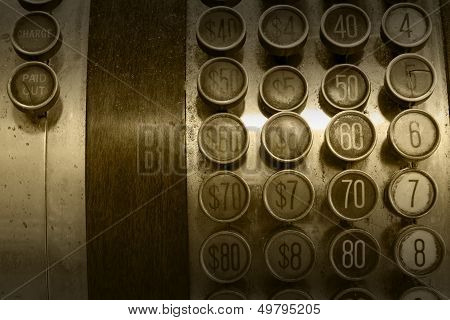 Monochromatic Antique Cash Register Buttons
