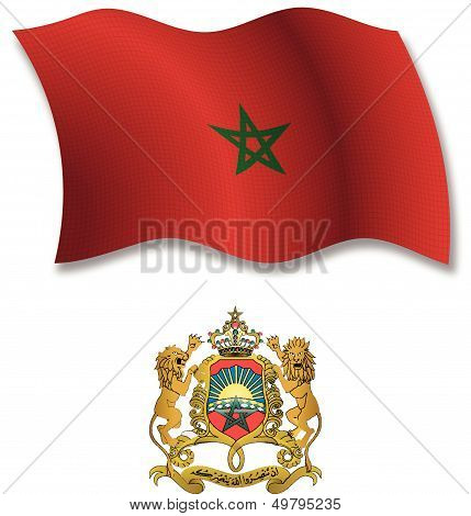 Morocco Textured Wavy Flag Vector